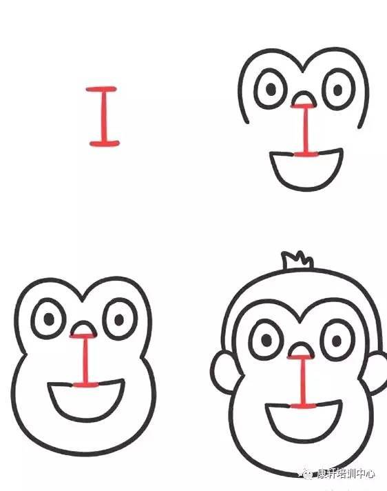 在字母上简单添几笔,就成了可爱的小动物 画画中还学会了英文字母 有