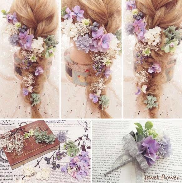 100款超美的鲜花新娘造型,造型师们都在学图片