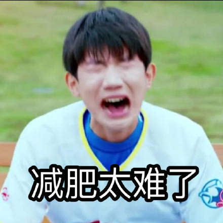 我们的少年时代班小松王源搞笑表情包:减肥太难了图片