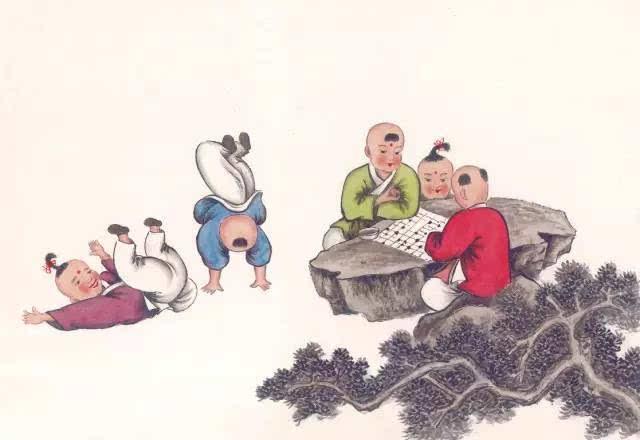 古代孩子的游戏花样,一点也不比现在乏味.图片
