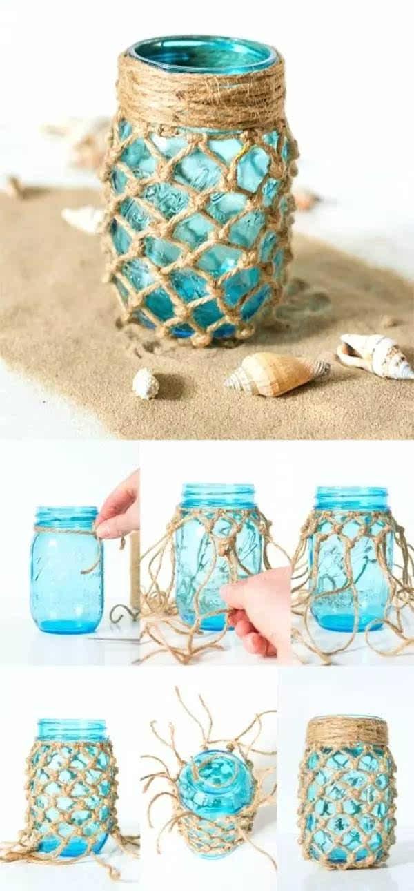 不要惊讶,这真的是可以的:) 在玻璃瓶内刷上丙烯颜料, 稍微创意下,装图片