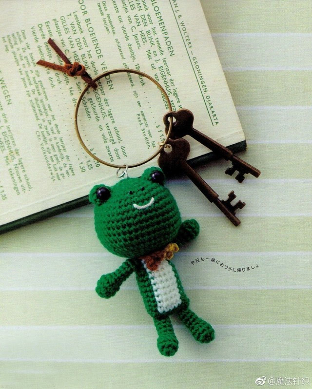 钩针图解   飞天猪和它的盆友小青蛙