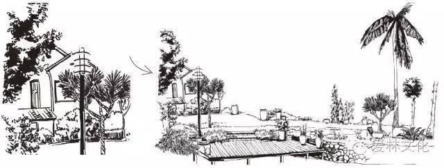 楼房街道手绘透视图