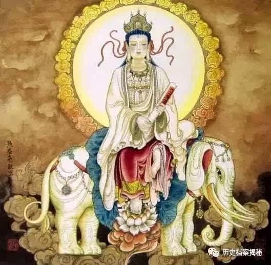 文殊,普贤共为一切菩萨之上首,常助成宣扬如来之化导摄益.