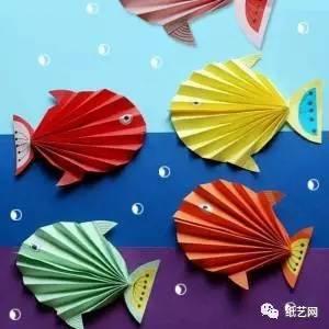 儿童手工折纸热带鱼 教师节礼物粘贴画