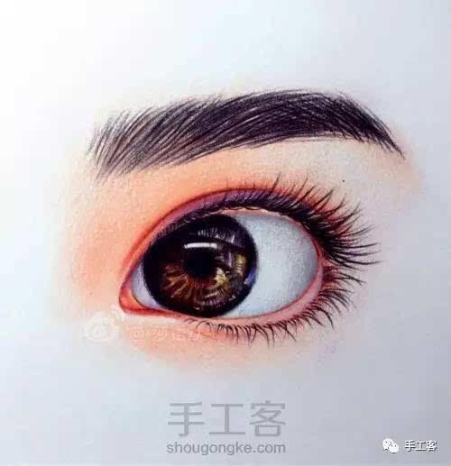 超逼真彩铅手绘眼睛 | 手工教程