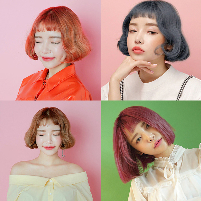 不过还是染过漂过的头发比较容易上色 ,尤其是粉色和奶奶灰这种颜色.图片