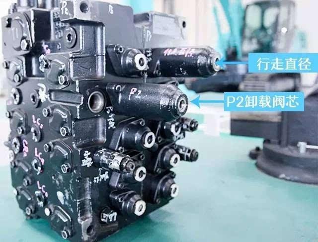 神钢20-30吨挖机多路阀阀芯的位置和作用,为你详解!图片