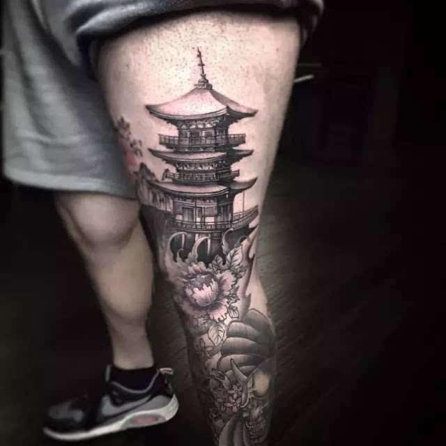 纹身丨国外评选的十幅最受欢迎的「建筑纹身」,这种另类风格你喜欢吗?图片