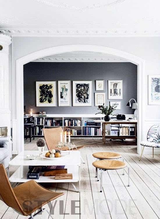 北欧式的极约风格,永远都是居家设计中的备受喜欢的元素,刷白的宽木图片