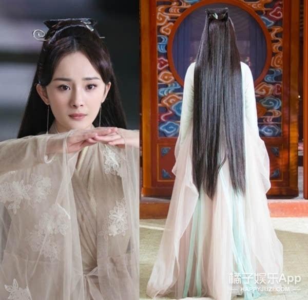 刘亦菲版的则是更随意了,白浅的头发大多数时候都没有做什么造型.图片