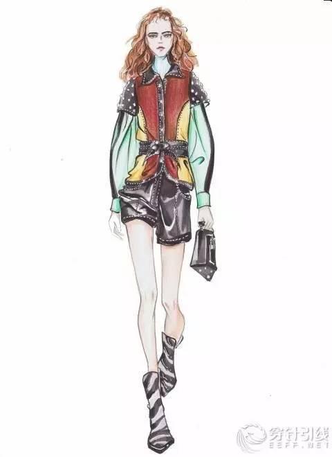 时装手绘 | 马克笔时装画-时尚频道-手机搜狐