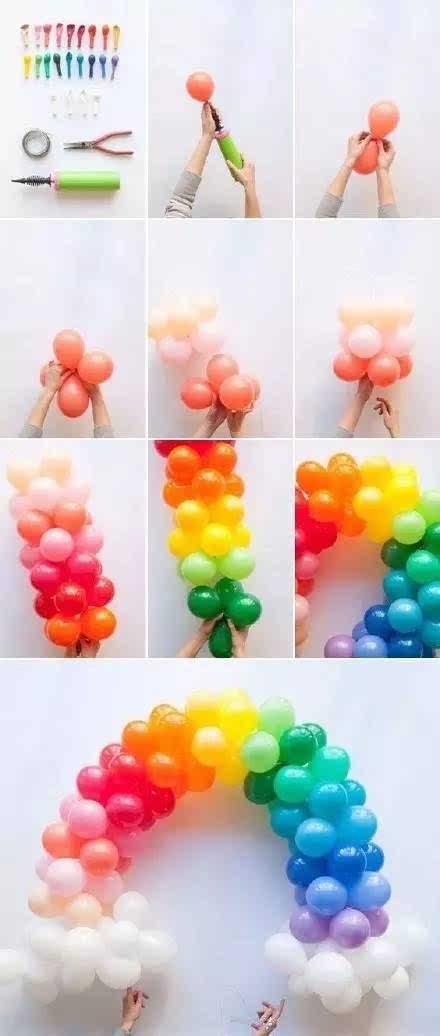 家庭聚会或教室布置都可以用到的气球diy