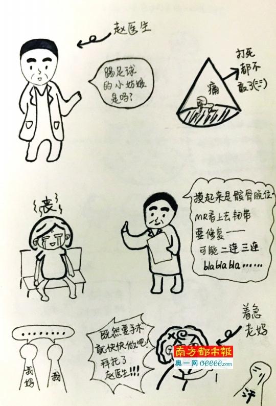 暖心 大二女孩手绘漫画感谢医生