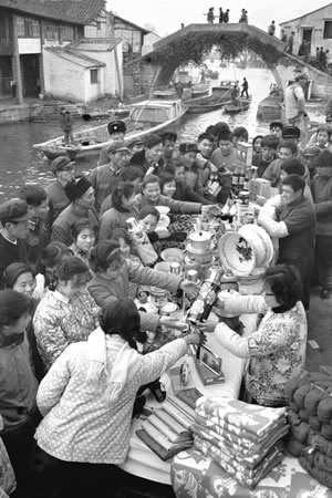 老照片 80年代中国各地街头风情 组图