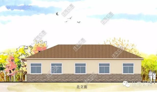 新农村16万自建18x12米平层别墅分享 全套图纸图片