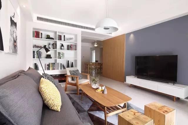 室内装修设计_125㎡三室两厅北欧风格