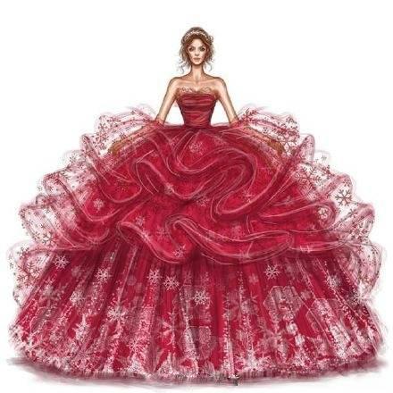 手绘婚纱,女王范儿来袭