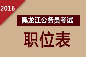 2016年黑龙江公务员考试职位表