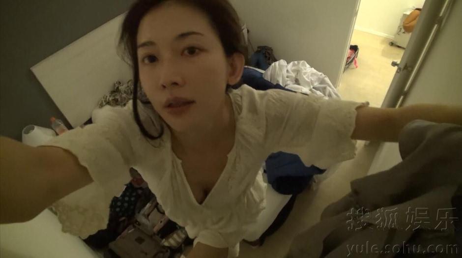 林志玲穿睡衣素颜上镜