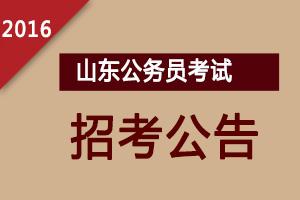 2016年山东公务员考试公告,2016年山东公务员