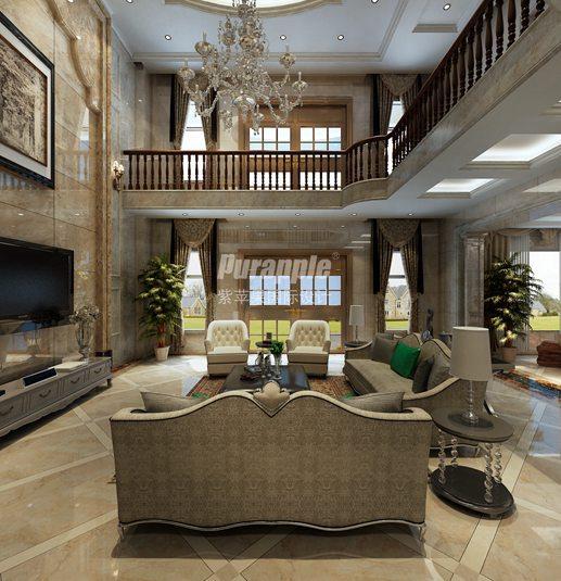 大理别墅客厅装修设计效果图高清图片