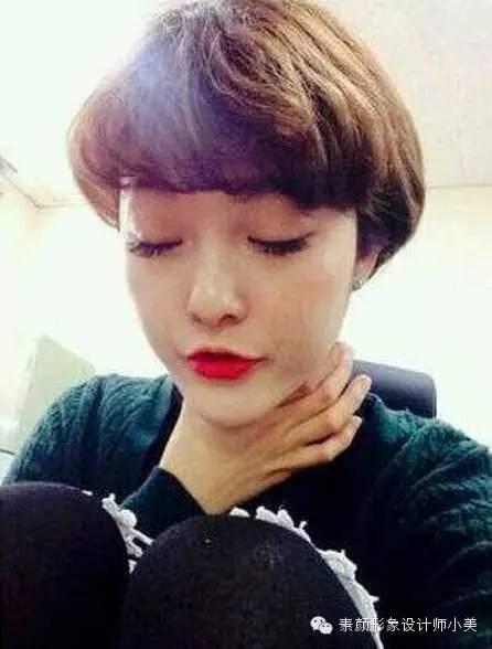 女生可爱蘑菇头短发发型图片