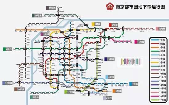 南京地铁规划图