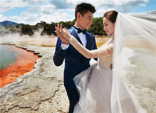 唯美结婚照可爱浪漫的温馨时刻