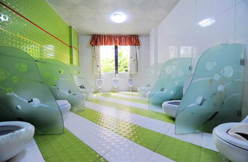 最美幼儿园卫生间环境布置图图片