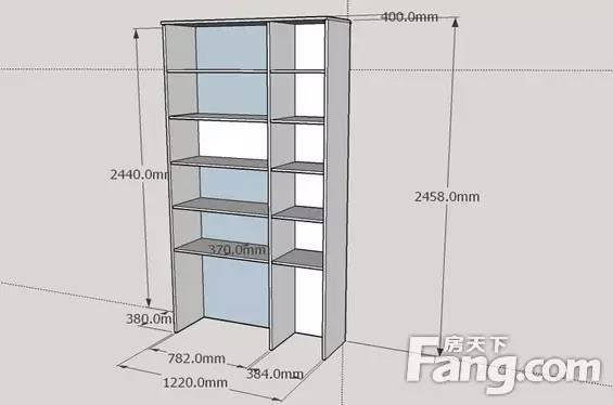 书柜尺寸规格是多少?书柜尺寸设计图片