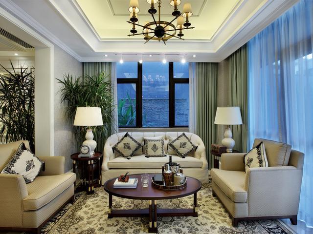 2万欧式优雅居,顶面装饰做得太好了!