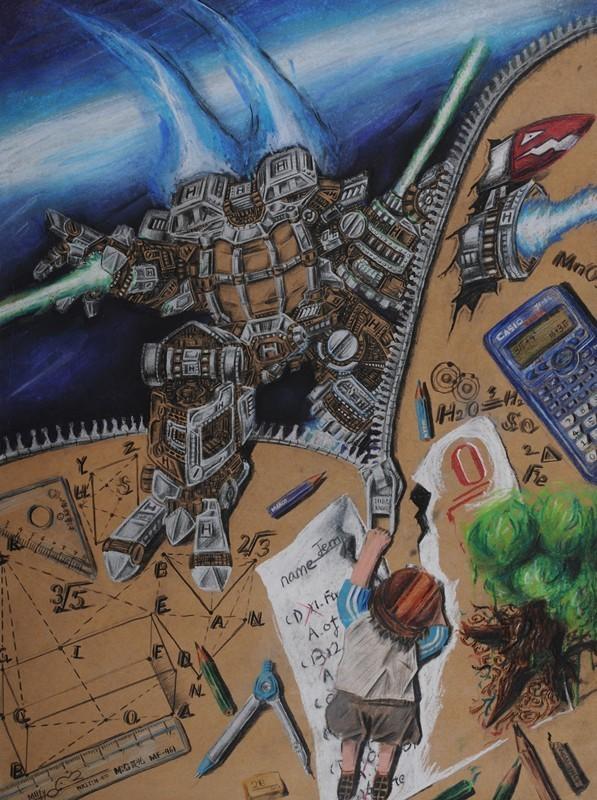 童心如梦 想象飞扬 省中小学生艺术节美术比赛优秀作品展(一)图片