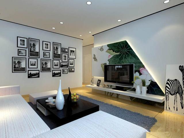 装修123网效果图专区,收集整理最新最全的现代设计风格两室一厅时尚客厅电视 而上面给大家准备的2016简约时尚电视背景墙图片,就延续着这种风格。精彩内 现代简约客厅电视背景墙装修效果图是2015年时尚设计...油漆、壁纸、石材、 客厅电视背景墙壁纸装修效果图绝对可以帮到你!