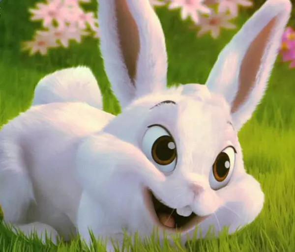 有一天,小白兔在家外面玩,一只山羊老爷爷走了过来,他和蔼的问小