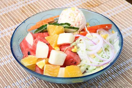 这几款功效沙拉蔬菜的v功效水果比较好~韩国懒人瘦身法图片