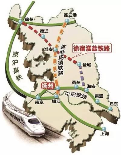 江苏高铁规划图 江苏将迎来 市市通高铁 时代 重要的高铁路线都在这了