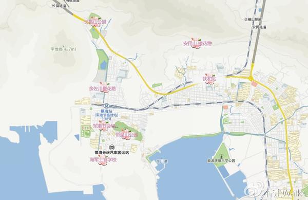 镇海樱花景点地图