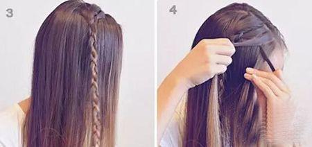 女学生长直发怎么编发扎发?2款适合春日出游发型图片