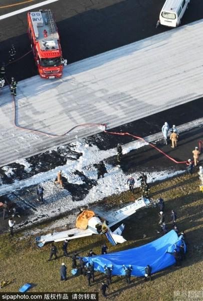 日本一架小型飞机于大阪坠毁