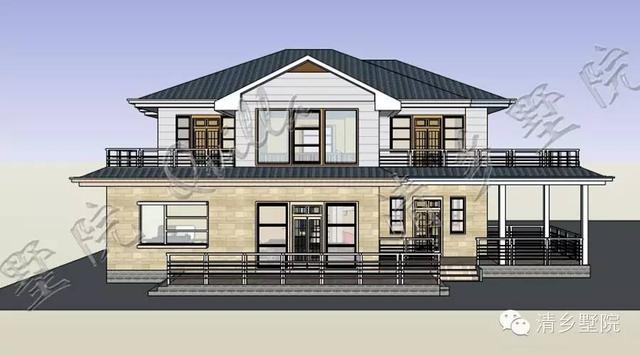 清墅农村自建房-挑高客厅欧式户型