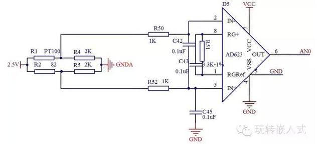 1.PT100解释   PT100是正温度系数的热敏电阻,顾名思义,随着温度的升高,电阻的阻值变大;相反,如果随着温度的升高,电阻的阻值变小,就是负温度系数的热敏电阻。之所以叫做PT100,是因为在0度时其阻值为100欧姆。   PT100之所以应用很广泛,不仅仅是因为测温范围比较宽宽更因为它的线性度非常好,也就是温度每升高一度,其电阻升高的值基本一致,约0.