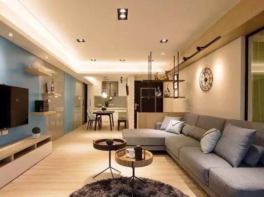 上海装修设计_三室一厅现代简约装修