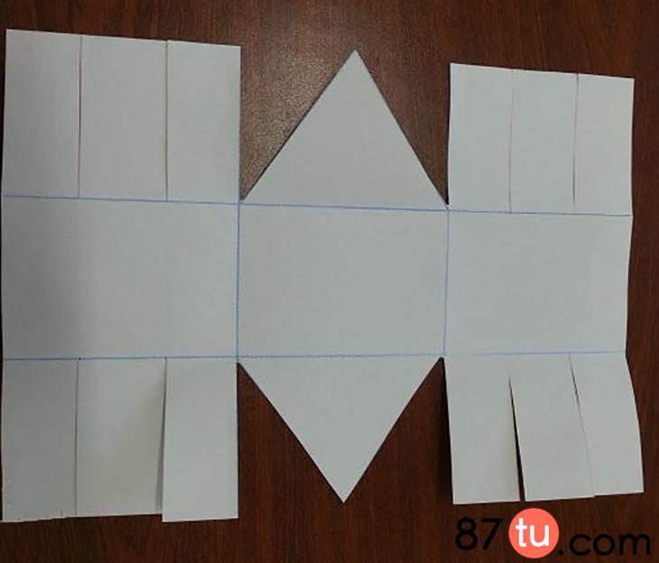 儿童折纸小兔子篮子折法图解教程图片