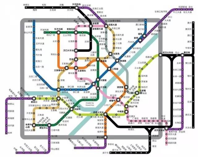 武汉地铁的规划中线路-
