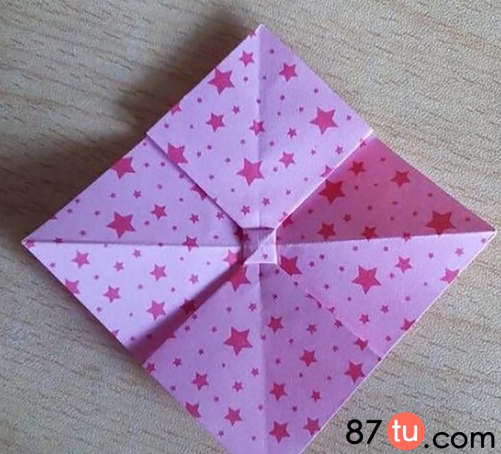 卡哇伊蝴蝶结折纸图解教程