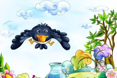 秒听英语 乌鸦喝水乌鸦喝水图片演示 乌鸦喝水的故事 乌鸦喝水英语绘图片
