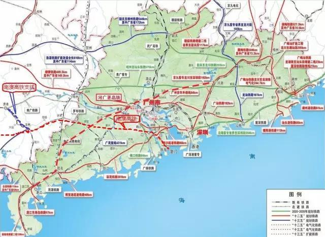 湛江未来将有多条高铁线路接入?图片