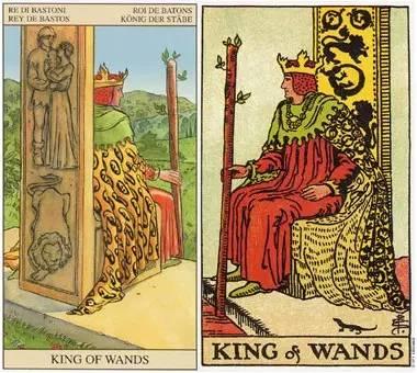 今天为你抽到塔罗牌权杖国王——你是一个能够通过而
