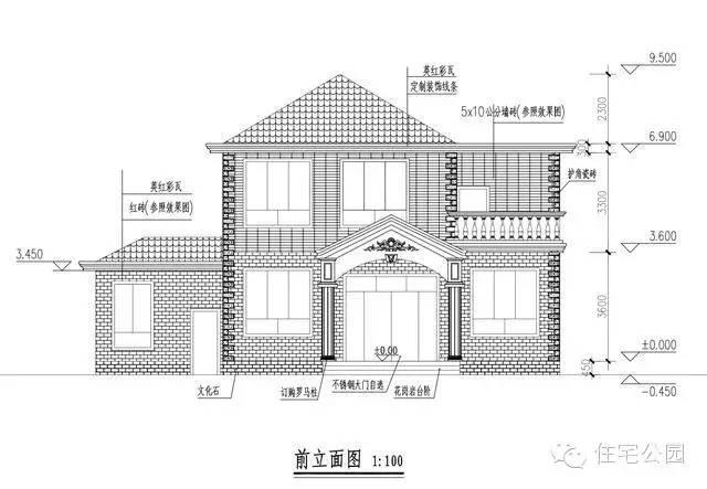 新农村自建房带神位 2层10米x9米